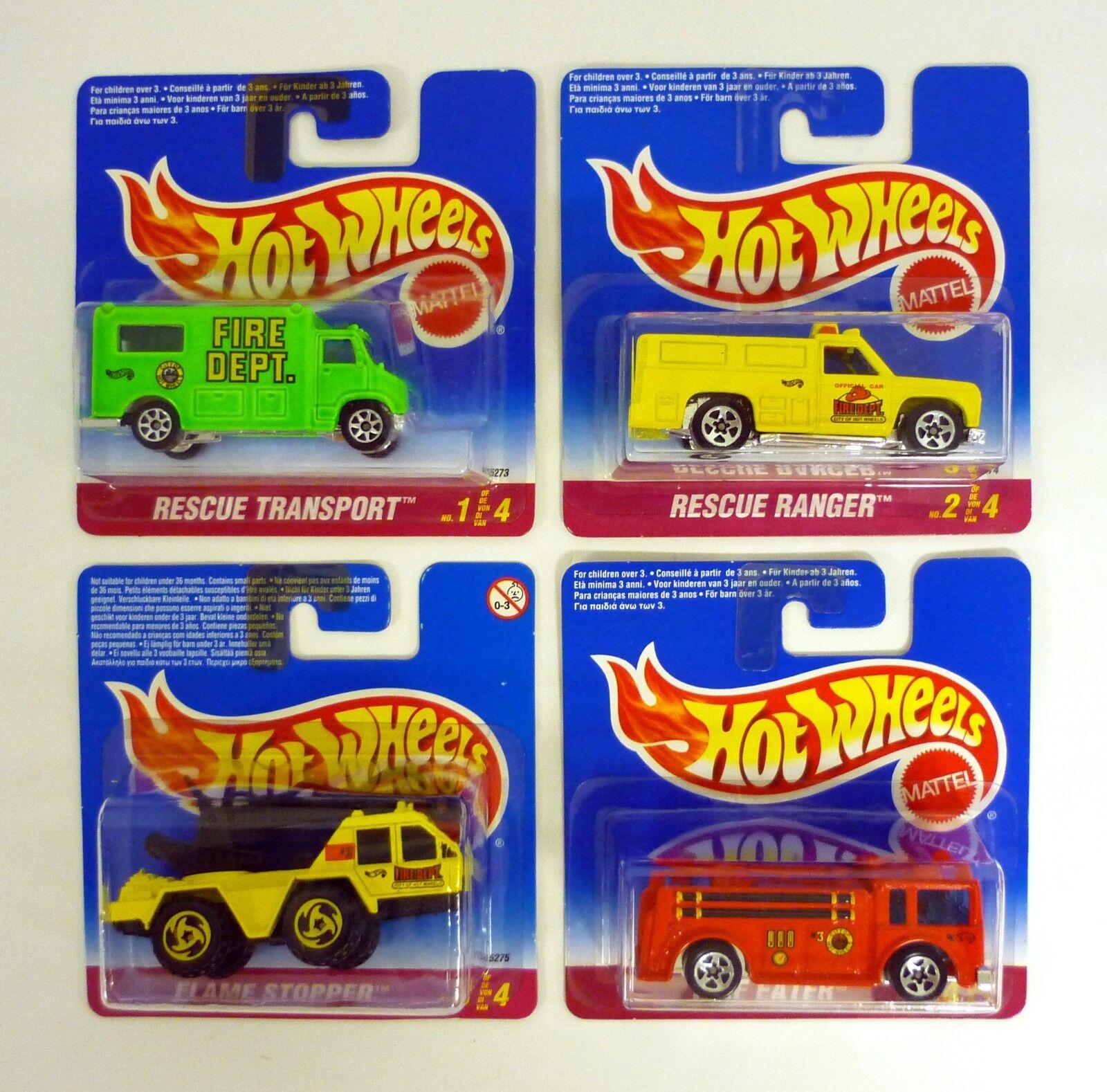 Hot Wheels Fuoco Department Set Modellino Camion  1-4 Corta Carta Moc Completo