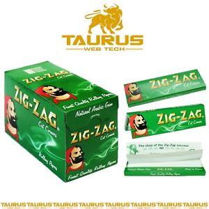 1200x ZIG ZAG GREEN Rizla Cut Corners ROLLING Papers Tobacco Cigarette Filter UK