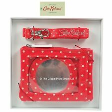 Cath Kidston Travel Purse + mirror + lanyard Mini Dot 100% authentic *BNWT*