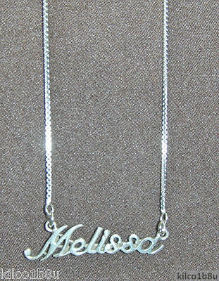 67476d888732c 925 Sterling Silver Name Necklace - Name Plate - MELISSA 17
