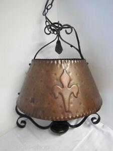 Lampe-suspendue-plafonnier-cuivre-fonte-FORGE-liliensymbol