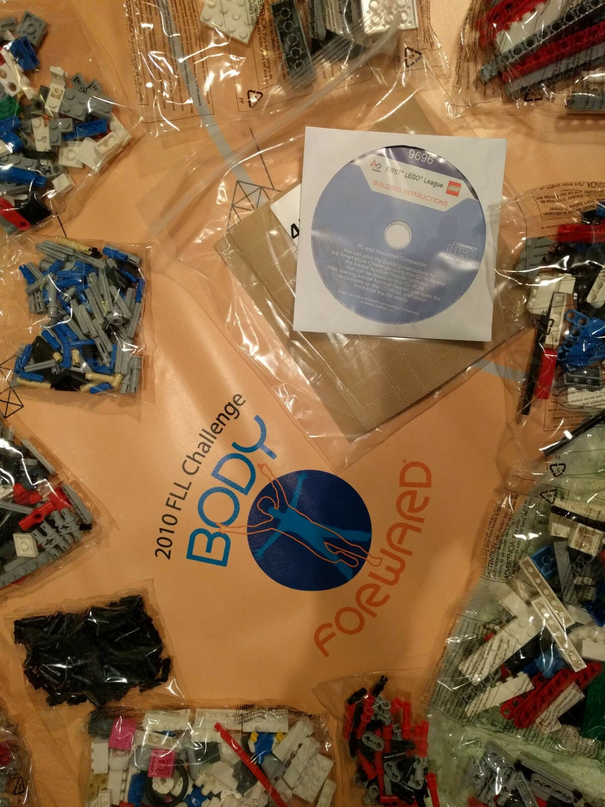 Lego 9696 Body Forward, First League Challenge 2010. Mindstorms. NEW