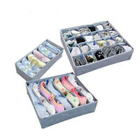 3pack New Storage soloution box wardrobe organiser drawer organiser socks bra