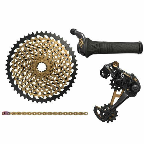SRAM XX1 Eagle 12 Speed Groupset MTB Kit 4 piece , Grip Shifter  , Gold