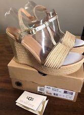 653c7d618dc UGG Elena II Metallic Soft Gold Women Platform Wedge Heel Sandals 1092246 Sz  7
