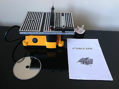 """4"""" MINI ELECTRIC TABLE SAW BENCH TOP GREAT FOR HOBBY OR CRAFT"""