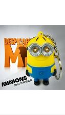 NEW Minion light and sound key ring Despicable Me Minions LED keychain Us Seller