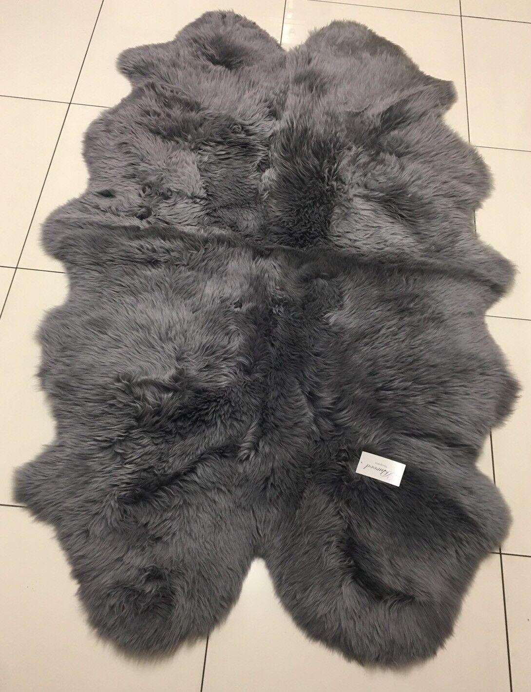 ASHWOOD Grey Quad Quad Quad Sheepskin Rug 180 cm x 110 cm | Online Store  e0f9bc