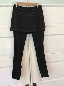 NWT-Athleta-2-in-1-Skirt-Leggings-Black-Polyester-spandex-Size-XXS-XXSmall