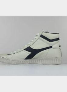 15c2b57b2504e Diadora Sportswear Game L High Waxed Scarpe Sportivo Unisex - Bianco ...