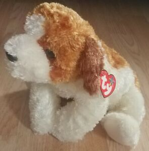 Ty Beanie Buddies 2003 Sampson Puppy Dog Plush Brown White Tysilk W/Original Tag