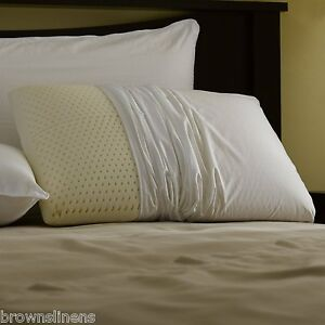 Talalay Latex Foam Pillow King Size With Zippered Pillow Cover