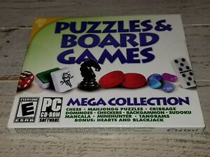 New-Puzzles-amp-Board-Games-Mega-Collection-PC-DVD-Rom-Software-FACTORY-SEALED
