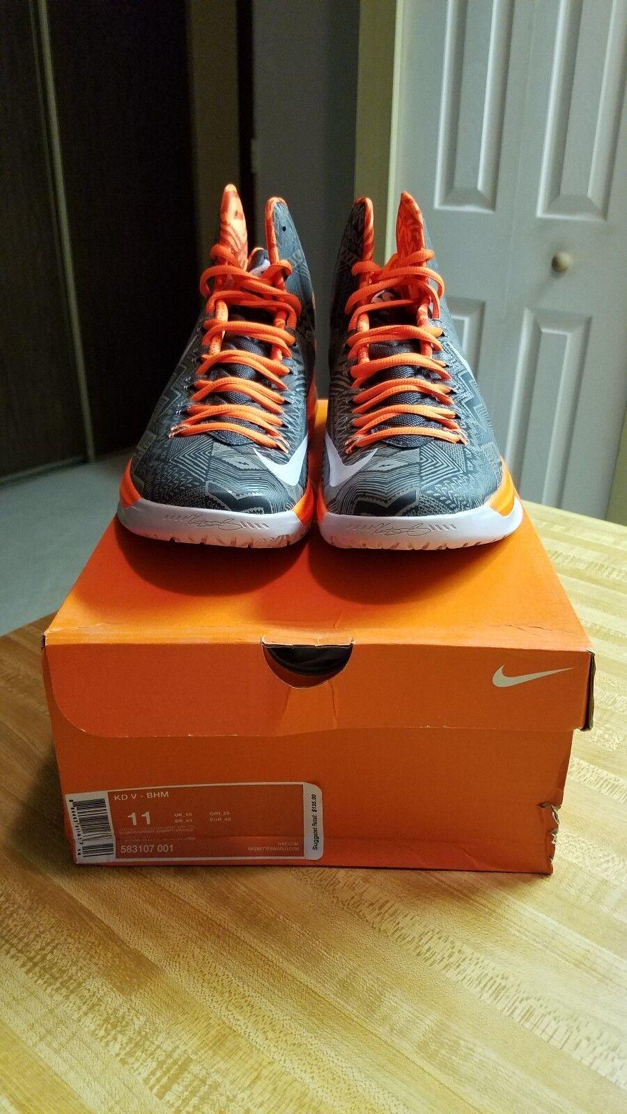 Nike Kd 5 BHM brand new deadstock reflective basketball.