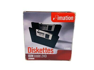 IMATION 3.5 Inch Diskettes; 1.44MB; IBM Formatted 2HD 10 count