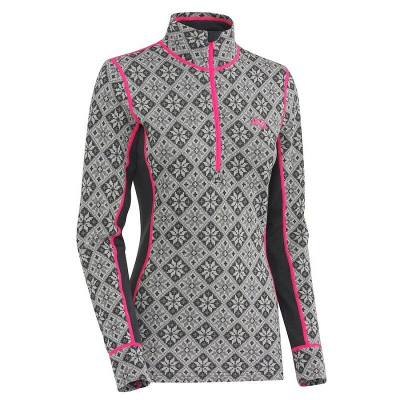 femmes t-shirt first layer kari traa merino wool h z rose colour citron