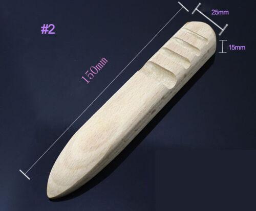beech leather craft multi-size trim edge burnisher polish stick  DIY tool