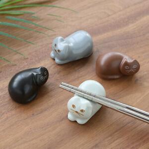 2X-Lucky-Cat-Chopstick-Holder-Spoon-Fork-Stand-Kitchen-Rack-Rest-Decor-Supplies