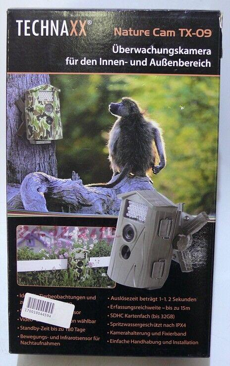 ☛Wild Überwachungs  Kamera TECHNAXX TX-09 Außen & Innen Innen Innen Jagd - Wild - OVP ☚ 9cef46