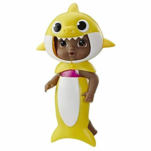 with Tail and Hood Inspired by Hit Song Baby Alive Baby Shark Black Hair Doll