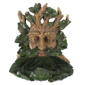 Green-Man-Bird-Bath-Feeder-Decorative-Garden-Ornament-Wall-Plaque-Dish-GIft
