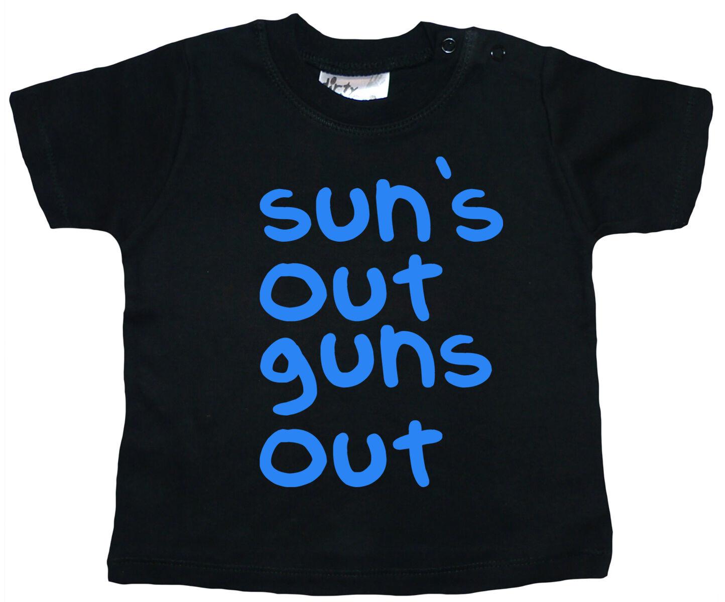 "Funny Baby T-Shirt /""Sun/'s Out Guns Out/"" Jump Street Channing Tatum"