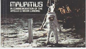 Astronautique-Espace-Mauritius-477-79-Markenheftchen-Apollo-11-MNH