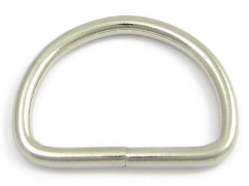 50 D-Ringe 30mm Halbring Metallring geschweißt Stahlring