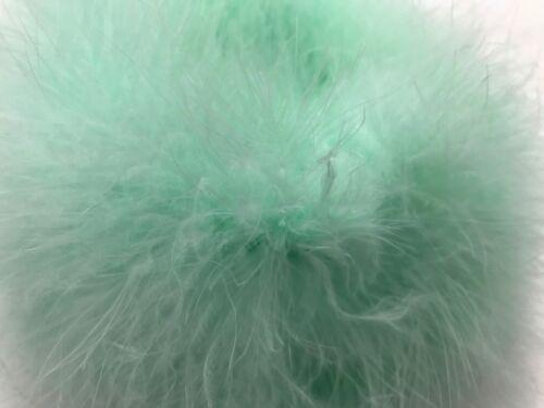 2 Yards Fresh Mint Turkey Medium Weight Marabou Feather Boa 25 Gram