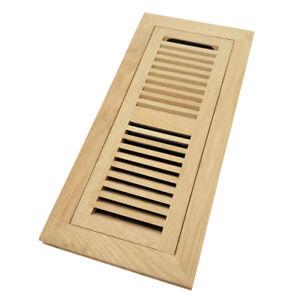 Image is loading White-Oak-Wood-Flush-Mount-Floor-Register-Vent-