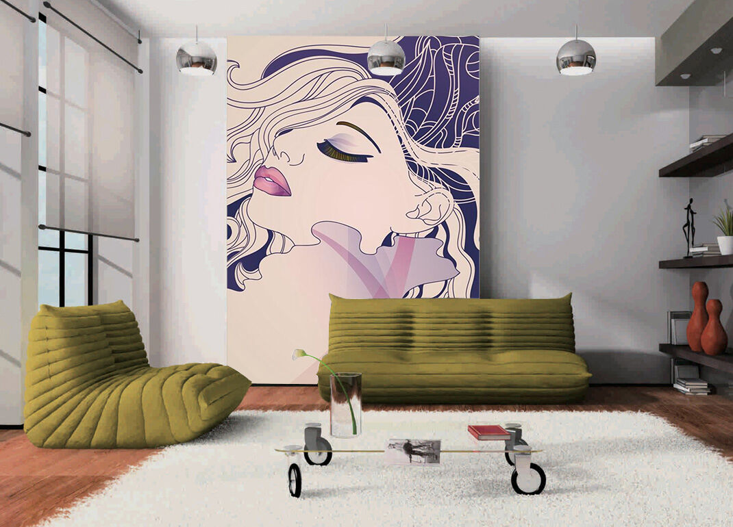 3D Girl painted 225 Wall Paper wall Print Decal Wall Deco Indoor wall Mural