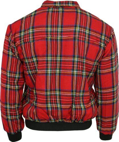 Relco Red Tartan Harrington Jacket Skinhead Mod Scooter Ska Punk Retro CLEARANCE