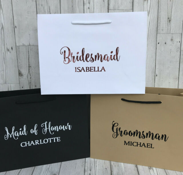 PERSONALISED LUXURY BOUTIQUE GIFT BAG | WEDDING THANK YOU | BRIDESMAID | BESTMAN