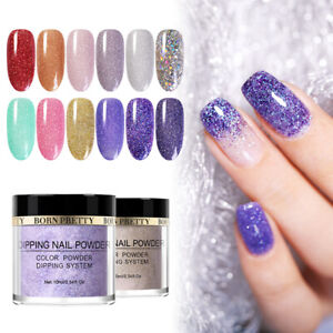 BORN-PRETTY-10ml-Nail-Dipping-Powder-Glitter-Natural-Dry-Nail-Art-NO-UV-Pro-Kit