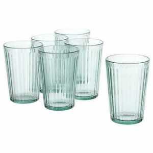 6 IKEA Gafas Cristal Transparente Vaso Bebida de Cóctel Helado 31cl