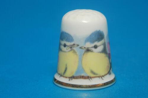 TCC Thimble Collectors Club Renaissanco Blue Tits 1987 Thimble B//181