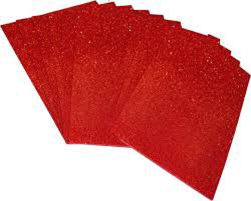 Ultra Épais Plain Paillettes Tissu A4 Feuilles de Taille en Mousse Lettres pour Arcs /& Crafts