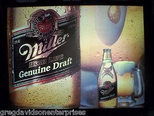 Miller Genuine Draft 15x20 Lighted Vintage Working Beer