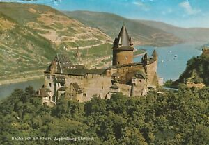 Germany-Postcard-034-Castle-Bacharach-on-the-Rhine-Jugendburg-Stahleck-034