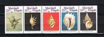 Sonstige Marshall Inseln 1986 Satz 87/91 Meeresmuscheln/schnecken/shells Postfrisch SorgfäLtige FäRbeprozesse Briefmarken