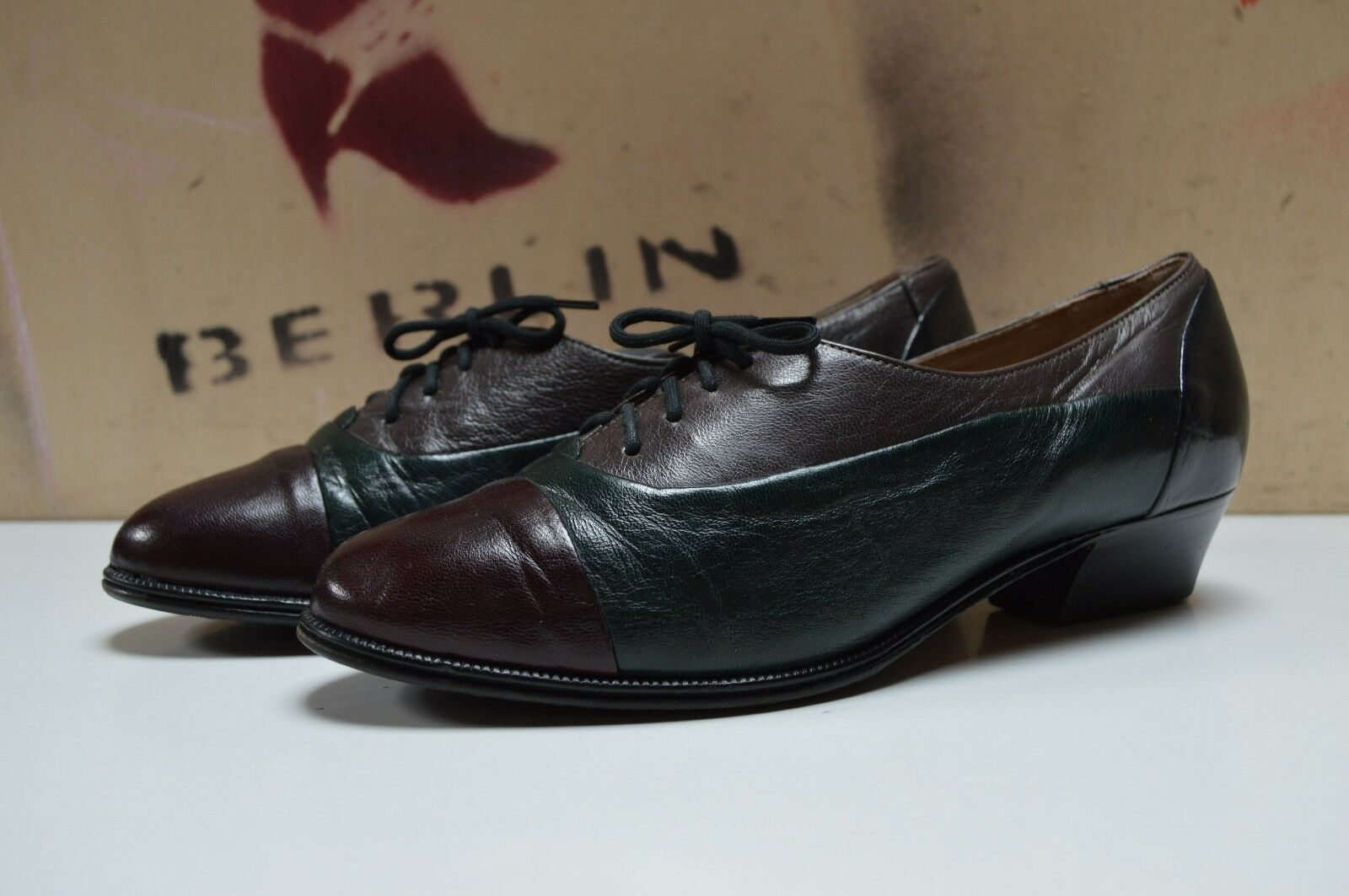 Sioux Sioux Sioux schnürzapatos zapato bajo verdadera a mano True vintage UK 4,5 ballerias  Venta en línea de descuento de fábrica