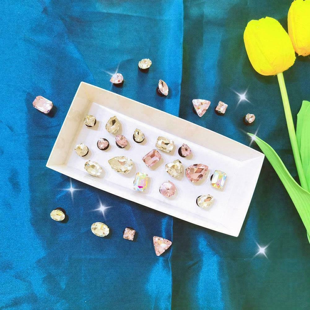 28pcs Shoes Rhinestone Crystal Flower Buckle Bridal Decor For Croc Wedding G7I1