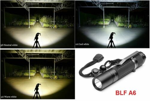 Cree XP-L 1600LM LED Flashlight Torch New Manker BLF A6 Blue, Warm