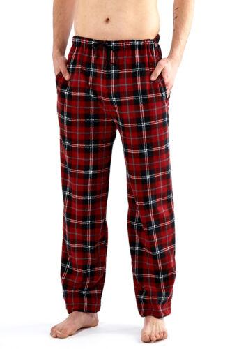 Harvey James Mens Checked Pyjama Bottoms Soft Fleece Lounge Pants Warm Nightwear