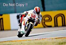 Marco Simoncelli San Carlo Honda Gresini Moto GP Sachsenring 2010 Photograph 2