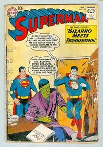 Superman-143-February-1961-G-Bizarro-Meets-Frankenstien
