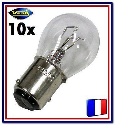 """Glorioso 10 Ampoules Vega® """"maxi"""" P21/5w 1157 Bay15d Position Arrière Stop Frein 12v"""