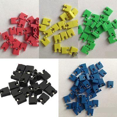 Red/Black/Blue/Yellow/Green Jumper Wire 2.54MM Short-circuit Block Jumper Cap