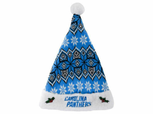 46871dcc20e NFL Carolina Panthers Knit Christmas Santa Hat by Forever Collectibles