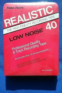Blank-Nos-Realistic-1989-8-Track-Cart-40-00-Stereo-Radio-Shack-Low-Noise-HiFi
